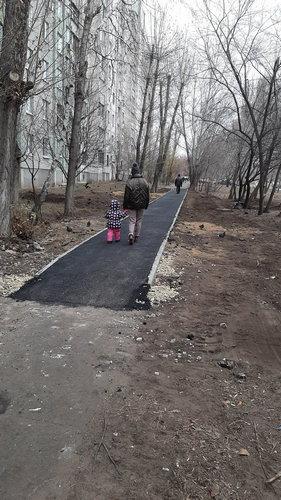 Ремонт тротуара. Ноябрь 2019 г.