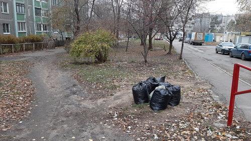 Уборка территории. Ноябрь 2019 г.